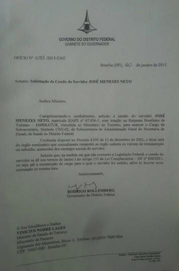 JOSÉ MENEZES NETO,  ex-Subsecretário, da Subsecretaria de Administração Geral, da Secretaria de Estado de Saúde do Distrito Federal