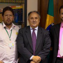 Fred Lima com Rodrigo Mercuccio e senador Cristovam