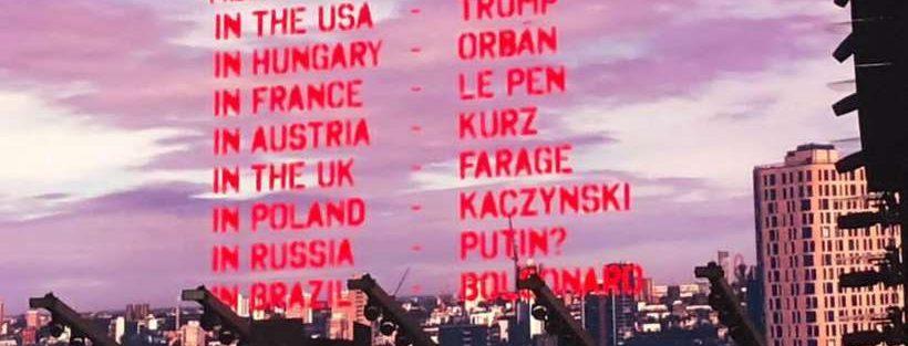 Em show de Roger Waters: Telão Bolsonaro é neofascista