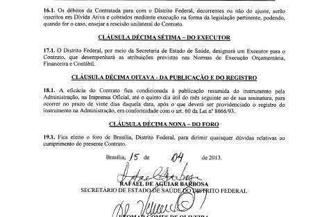 Executores de contratos acusam empresa Poli Engenharia que presta serviços para a SES-DF de falsificação em assinaturas