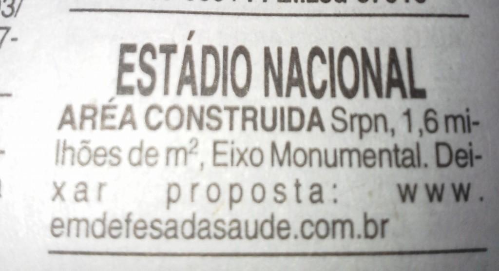 Vendo Estádio Mané Garrincha