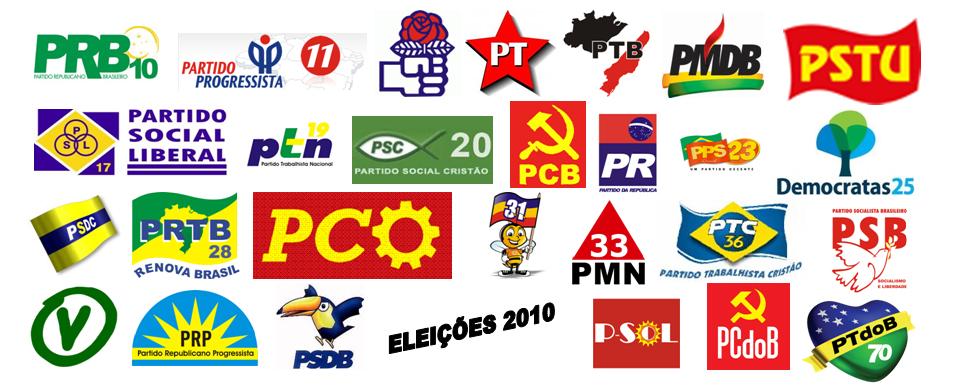 Partidos políticos registrados no TSE