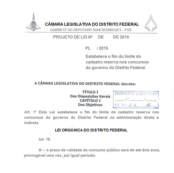 Concurso na administração direta, autarquias e fundações públicas do Distrito Federal