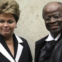 Dilma e Joaquim Barbosa