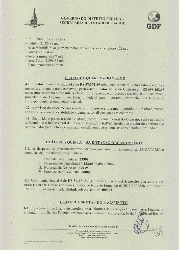 CONTRATO DE LOCAÇÃO DE IMÓVEIS GDF