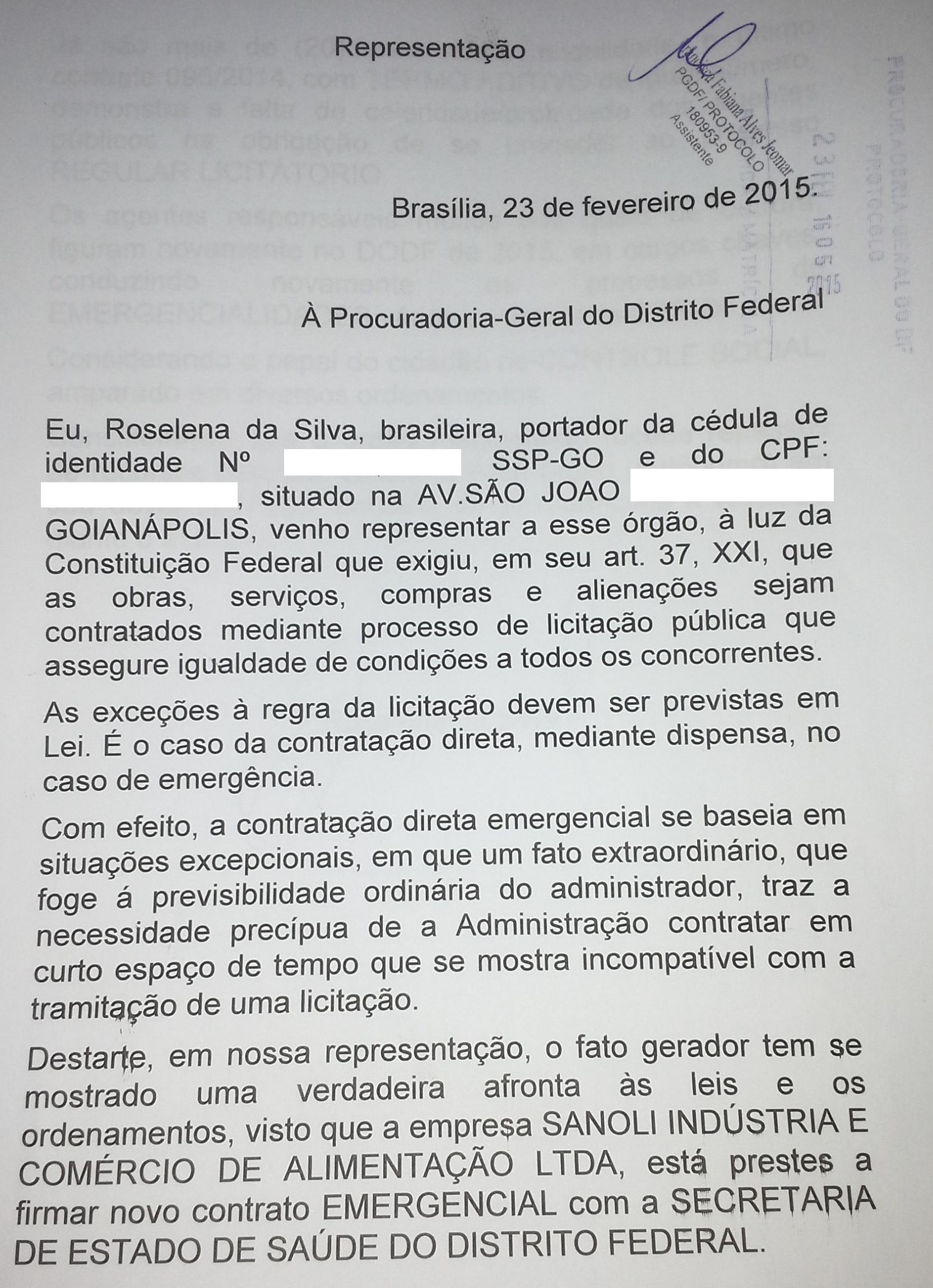 Parte do documento enviado ao site.