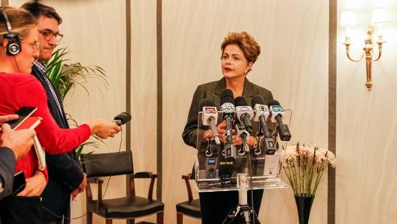 Estocolmo - Suécia, 18/10/2015. Presidenta Dilma Rousseff durante coletiva de imprensa. Foto: Roberto Stuckert Filho/PR
