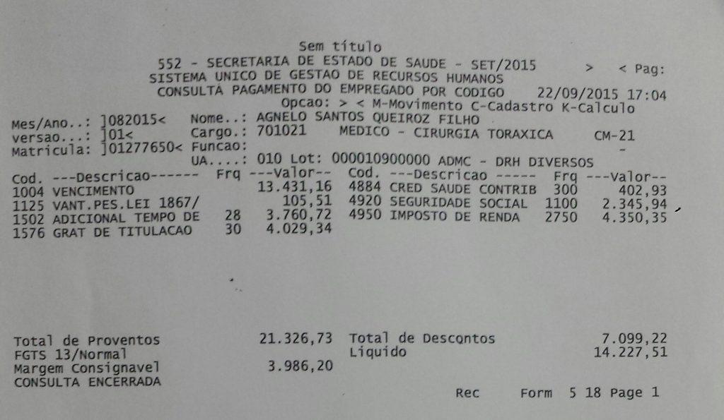 O ex-governador Agnelo Queiroz, médico da SES-DF, também espera pelo reajuste dos servidores públicos da saúde