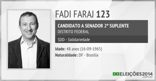 Suplente do senador Reguffe o pastor Fadi Faraj da igreja Ministério da Fé