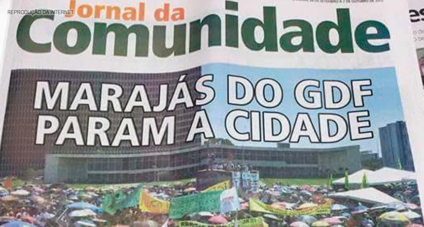 publicação de matéria do Jornal Comunidade (25/Set), intitulada Marajás param a cidade