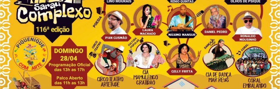 Neste domingo, atores da cena cultural do Distrito Federal se reúnem num caldeirão artístico na 116ª edição do Sarau Complexo