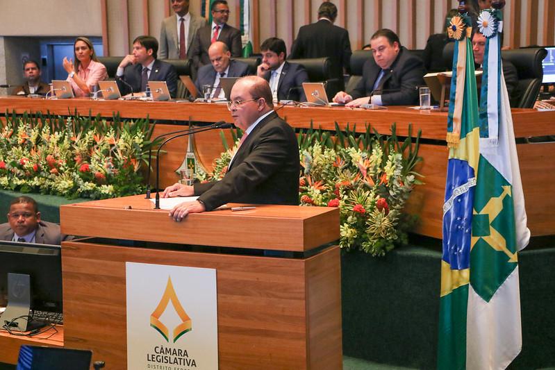 Governador Ibaneis Rocha (MDB), na  CLDF