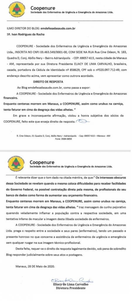 SOCIEDADE DE TRABALHO DOS ENFERMEIROS DE URGÊNCIA E EMERGÊNCIA DO AMAZONAS − Estabelecida nesta cidade, Manaus