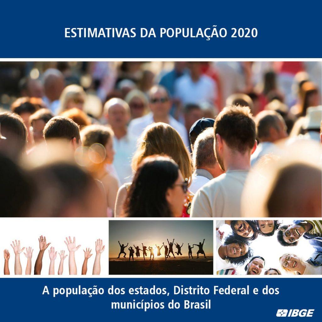 O IBGE estimou população