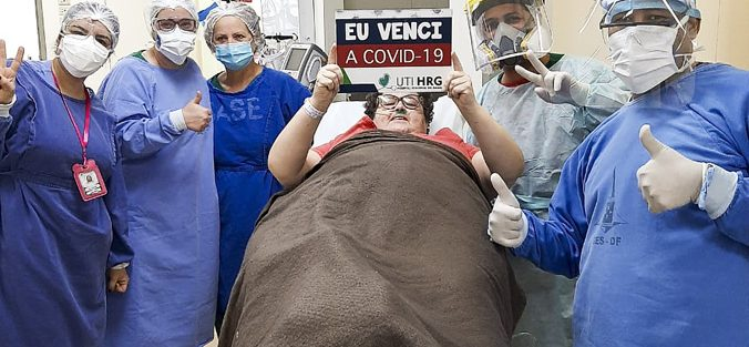Um dos 172.509 recuperados da Covid-19 pelo Exército da Saúde faz doação para a UTI do Hospital Regional do Gama