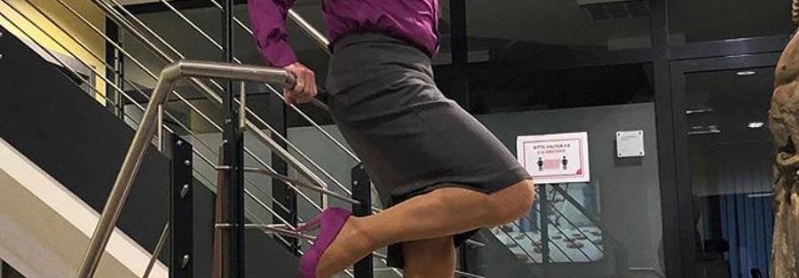 Misturar os sexos | Pai de três filhos, casado, heterossexual, usa saia e salto alto para trabalhar